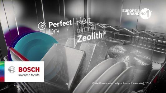 Công nghệ sấy Zeolith giúp sấy khô bát đĩa hoàn toàn bằng hạt năng lượng. Bosch là thương hiệu duy nhất đã phát triển công nghệ sử dụng Zeolith