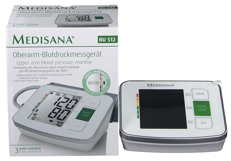 Nói đến máy đo huyết áp review thì không thể không nói đến máy đo huyết áp gia đình Medisana BU 512 cũng là thương hiệu đến từ Đức