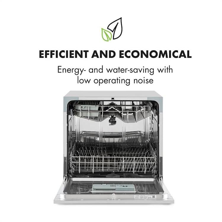 Máy rửa bát 8 bộ Klarstein tiết kiệm năng lượng mà vẫn cho hiệu quả tối đa.
