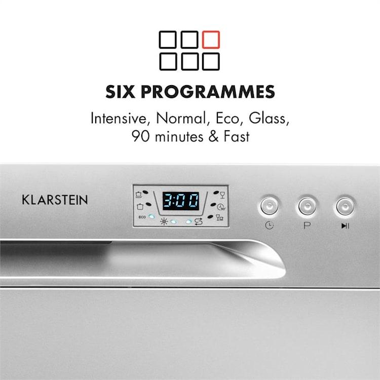 Máy rửa bát 8 bộ Klarstein có bảng điều khiển trực quan, dễ sử dụng.