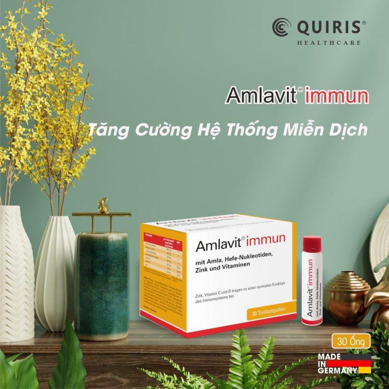 Quiris Amlavit Immun tăng cường hệ thống miễn dịch.