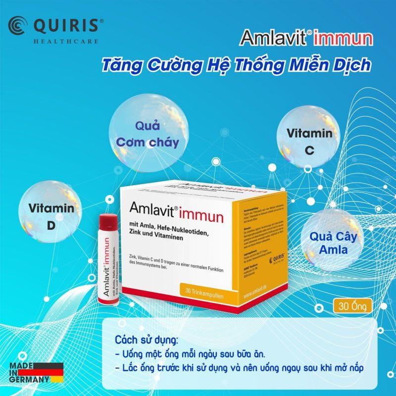 Amlavit ®immun có dạng ống rất dễ sử dụng.