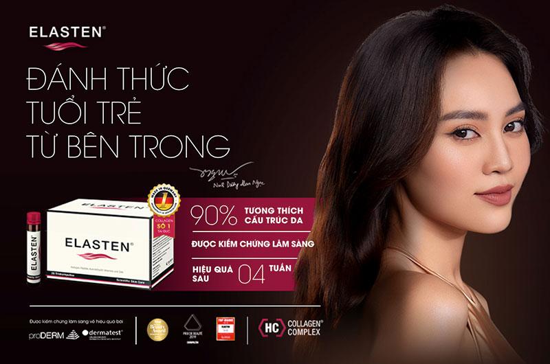 Quiris Collagen Elasten cho làn da căng mọng, trẻ trung cho phái nữ.