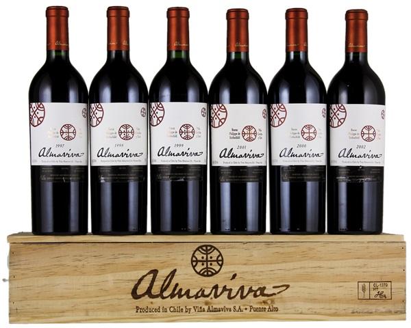 Rượu vang danh tiếng Almaviva của Chile.