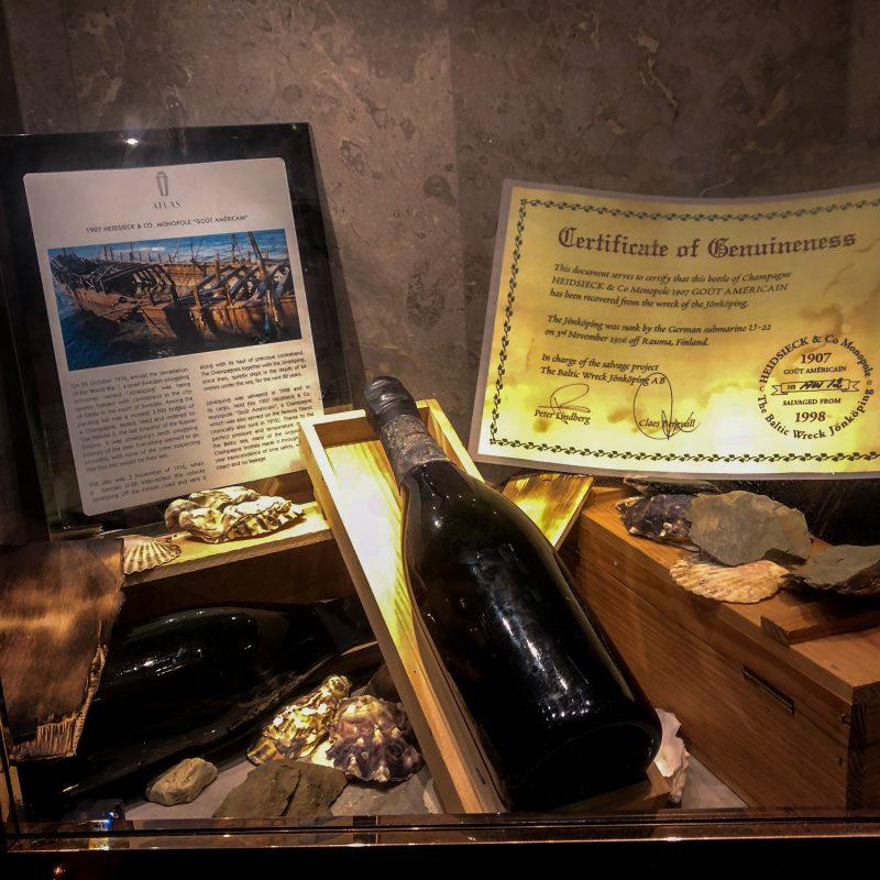 Chai rượu vang Shipwrecked 1907 Heidsieck
