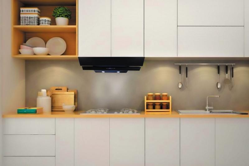 Hút mùi không tủ tạo không gian liền lạc cho căn bếp