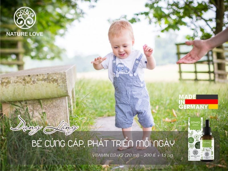 Nature Love VITAMIN D3+K2 bổ sung vitamin tổng hợp rất tốt cho trẻ nhỏ.