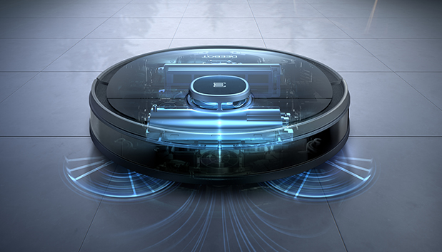 Robot hút bụi có công suất mạnh mẽ sẽ hỗ trợ hiệu quả việc dọn dẹp.