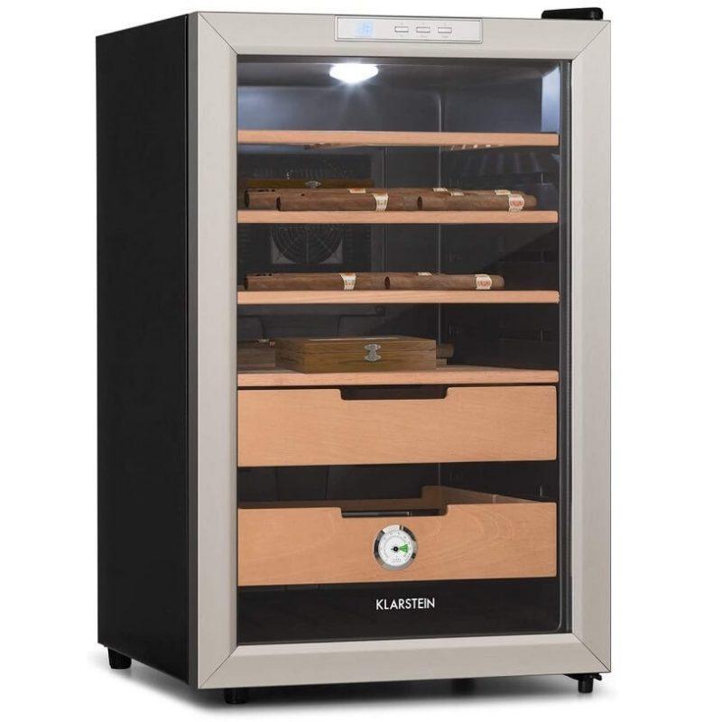 Tủ bảo quản Cigar Klarstein có thiết kế trang nhã.