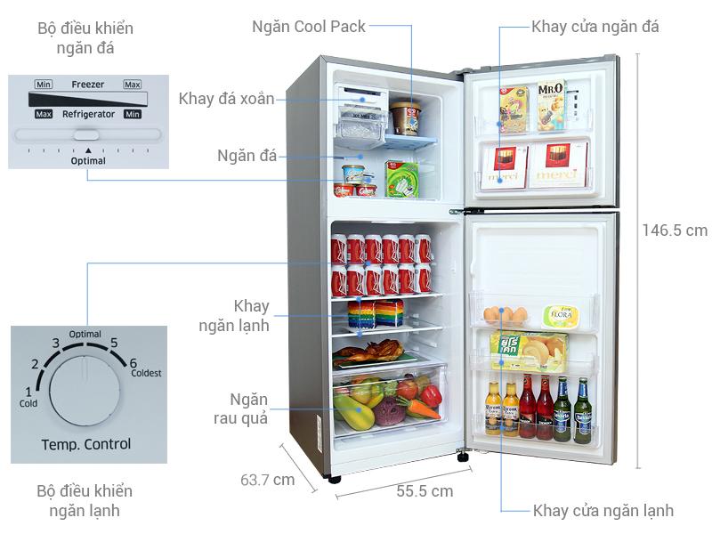 Tủ lạnh bảo quản thức ăn Inverter Samsung RT20HAR8DSA / SV 203L