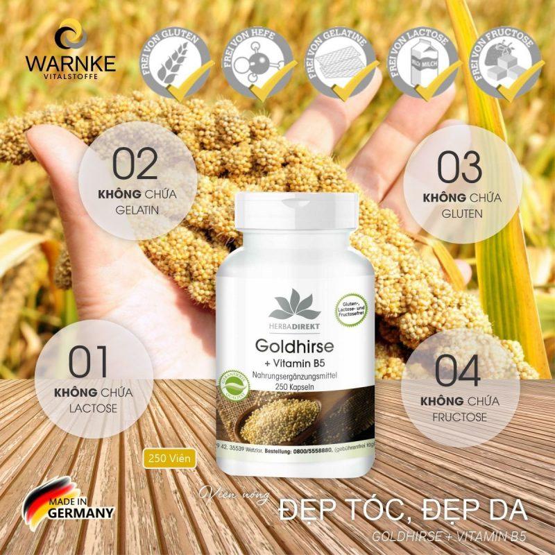 Herbadirekt Goldhirse đảm bảo an toàn cho bạn trong quá trình sử dụng.