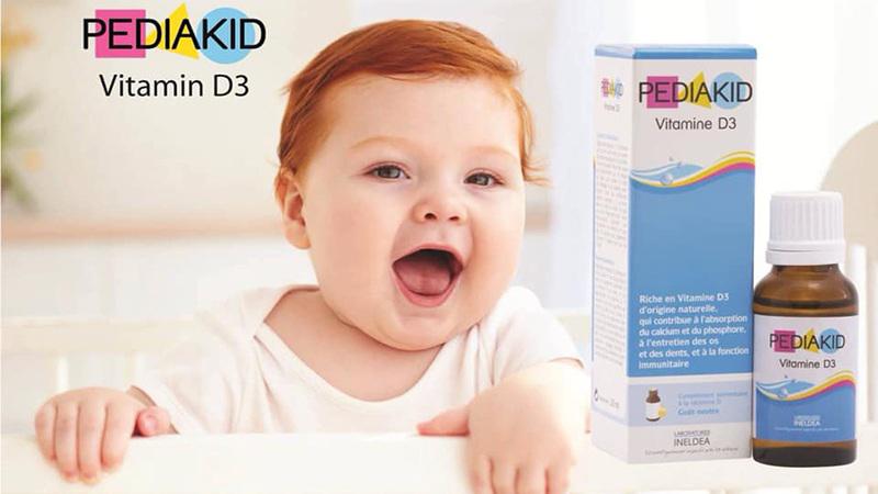 Pediakid Vitamin D3 giúp trẻ tăng chiều cao