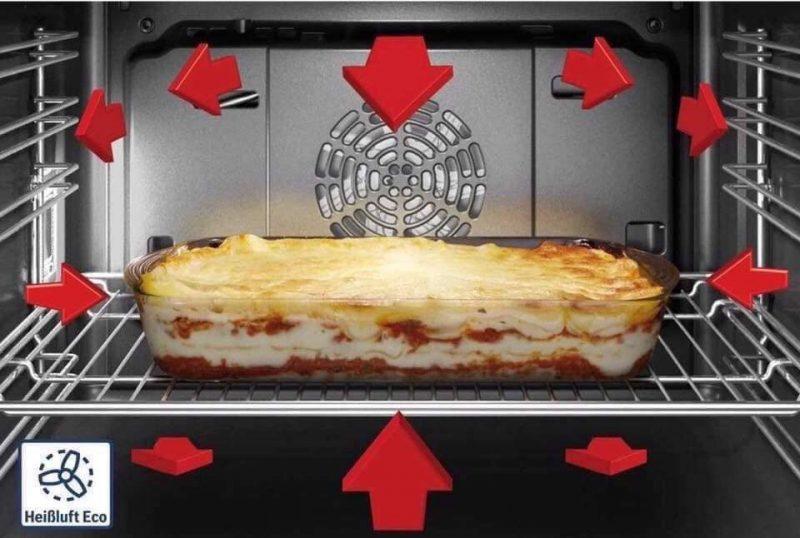 Lò nướng Bosch Series 8 có khả năng làm nóng đa chiều.
