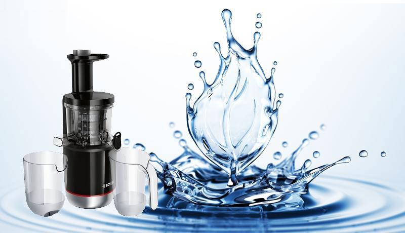 Máy ép chậm Bosch MESM731M vệ sinh rất dễ dàng, tiện lợi