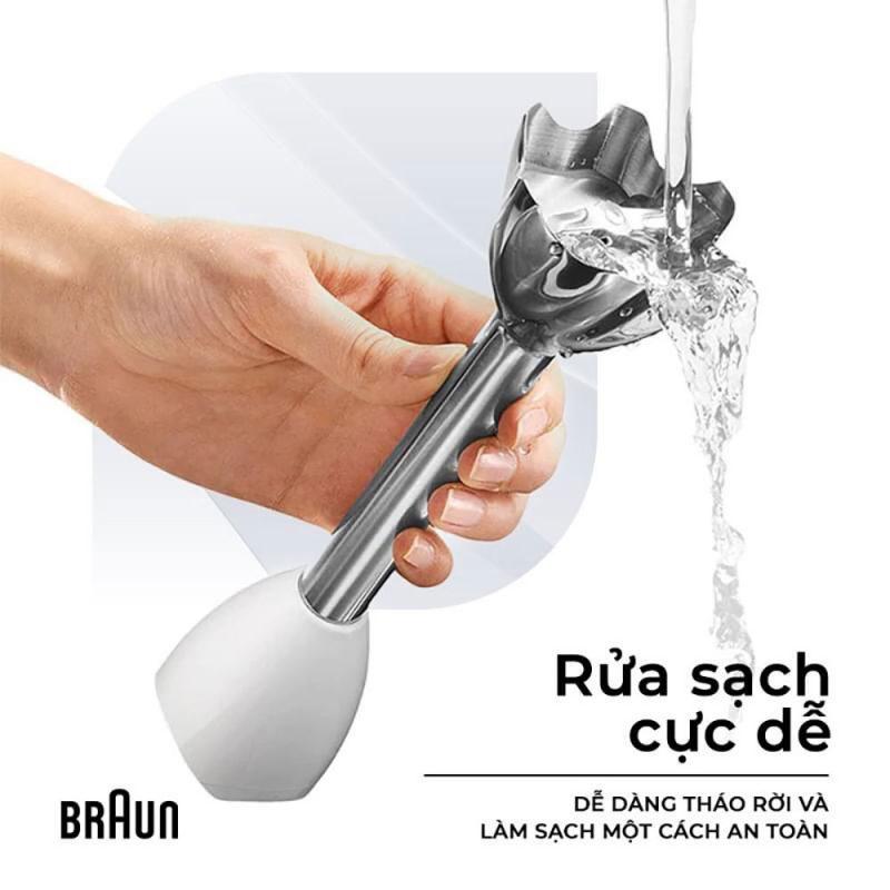 Một số bộ phận trên máy xay cầm tay có thể dễ dàng vệ sinh bằng nước.