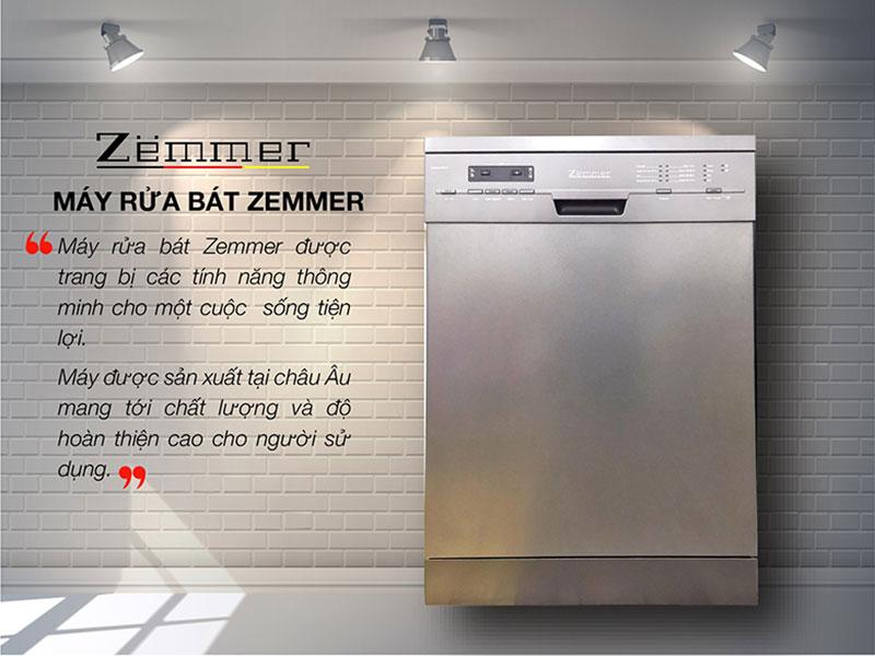 Máy rửa bát Zemmer là sản phẩm cũng rất đáng được quan tâm.