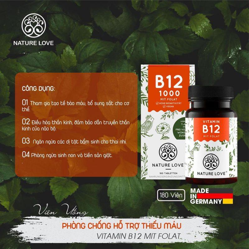 Thực phẩm chức năng Nature Love Vitamin B12