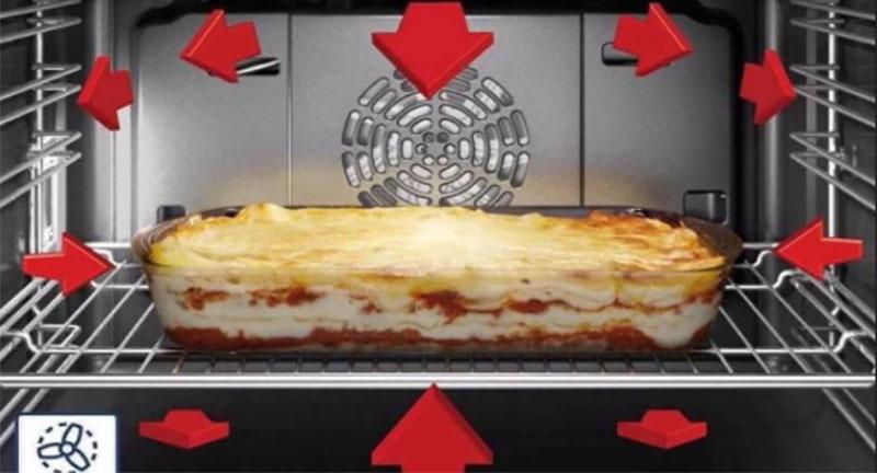 Thực phẩm được nấu chín đều trong lò nướng Bosch