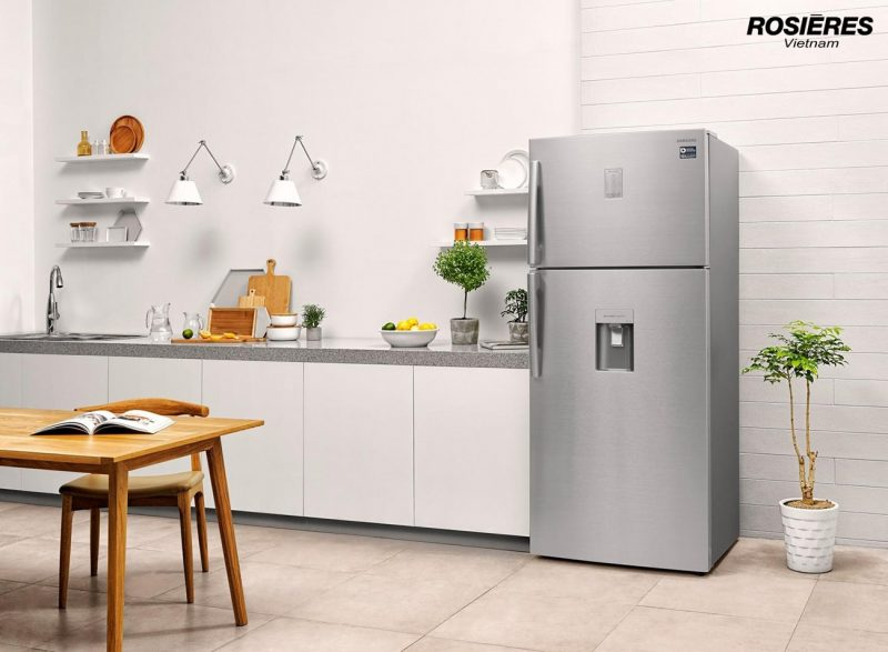 Tủ lạnh Rosieres có nhiều tính năng tiết kiệm điện.