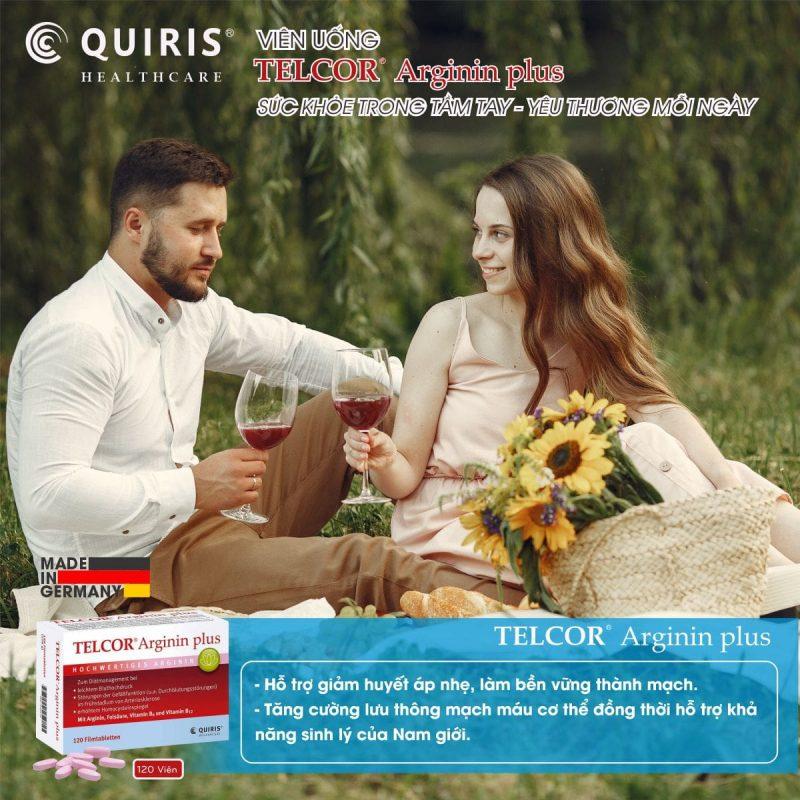 Quiris Telcor Arginin Plus ổn định huyết áp