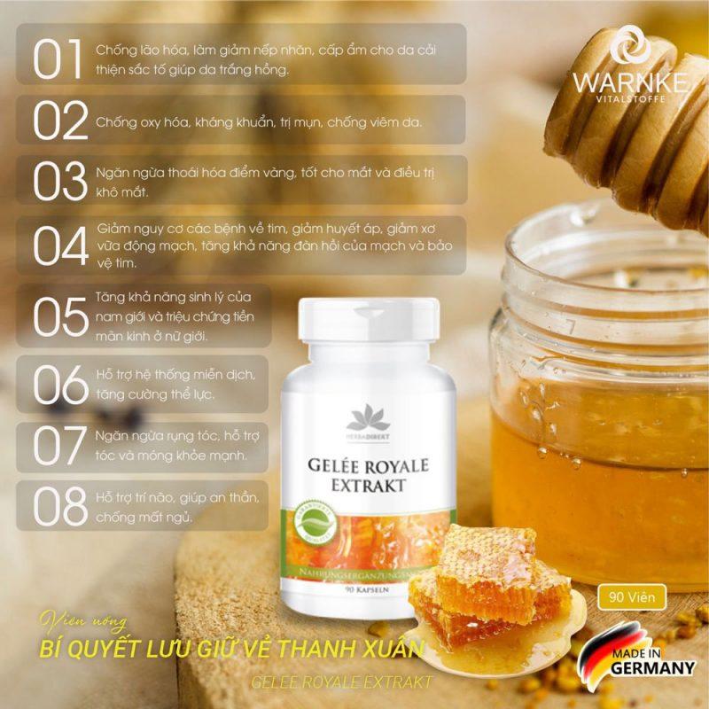 Warnke Gelee Royale Extrakt bảo vệ da