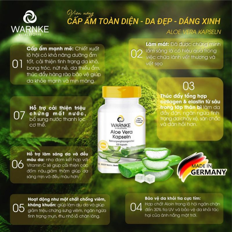Thực phẩm chức năng Warnke 15710 Aloe Vera